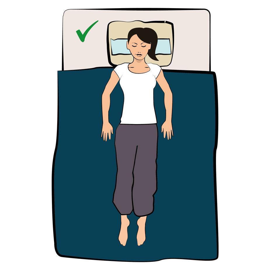 Schlafposition Kopfschmerzen