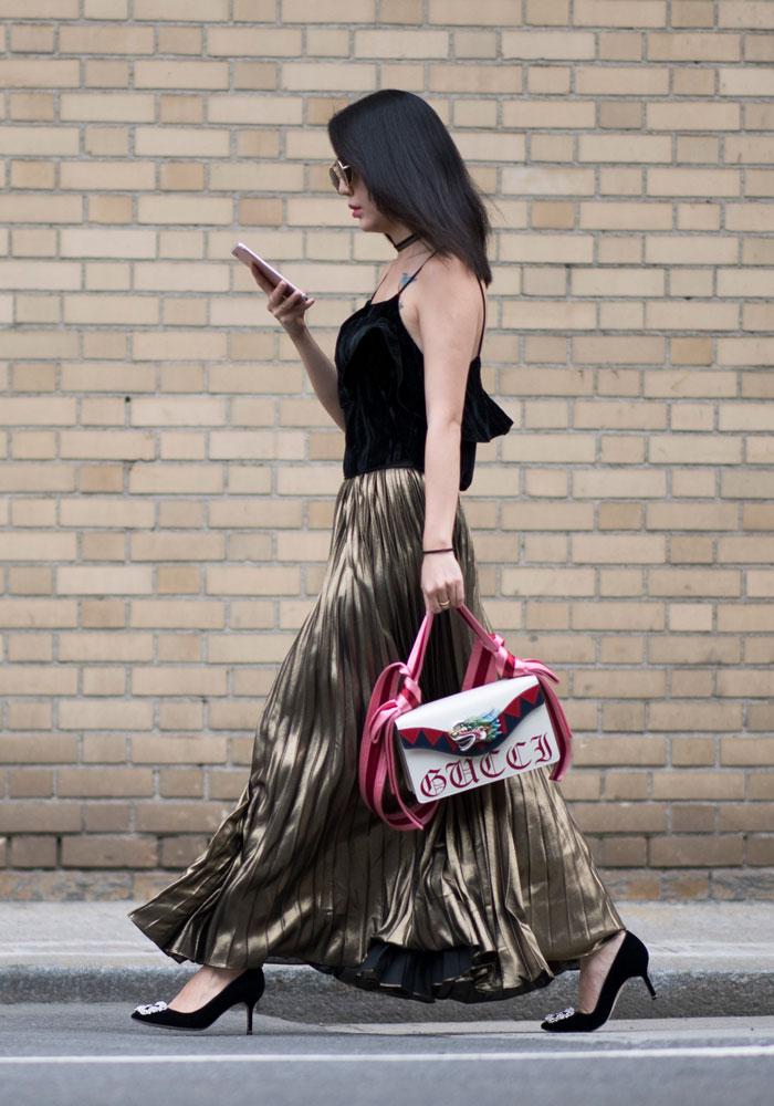 Metallic Street Style / Look 3