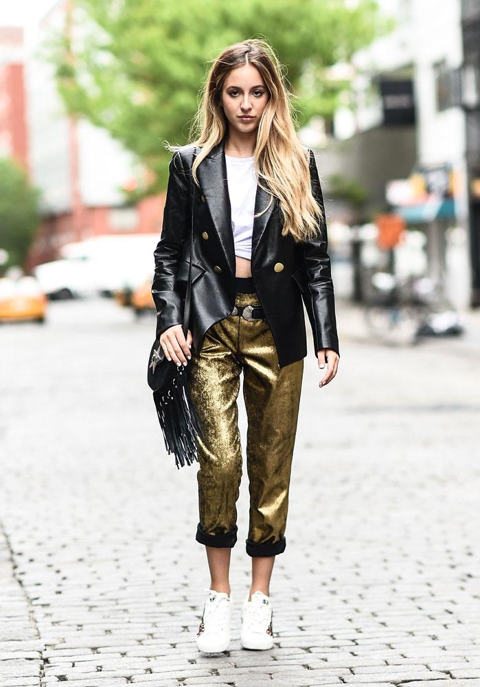 Metallic Street Style / Look 4