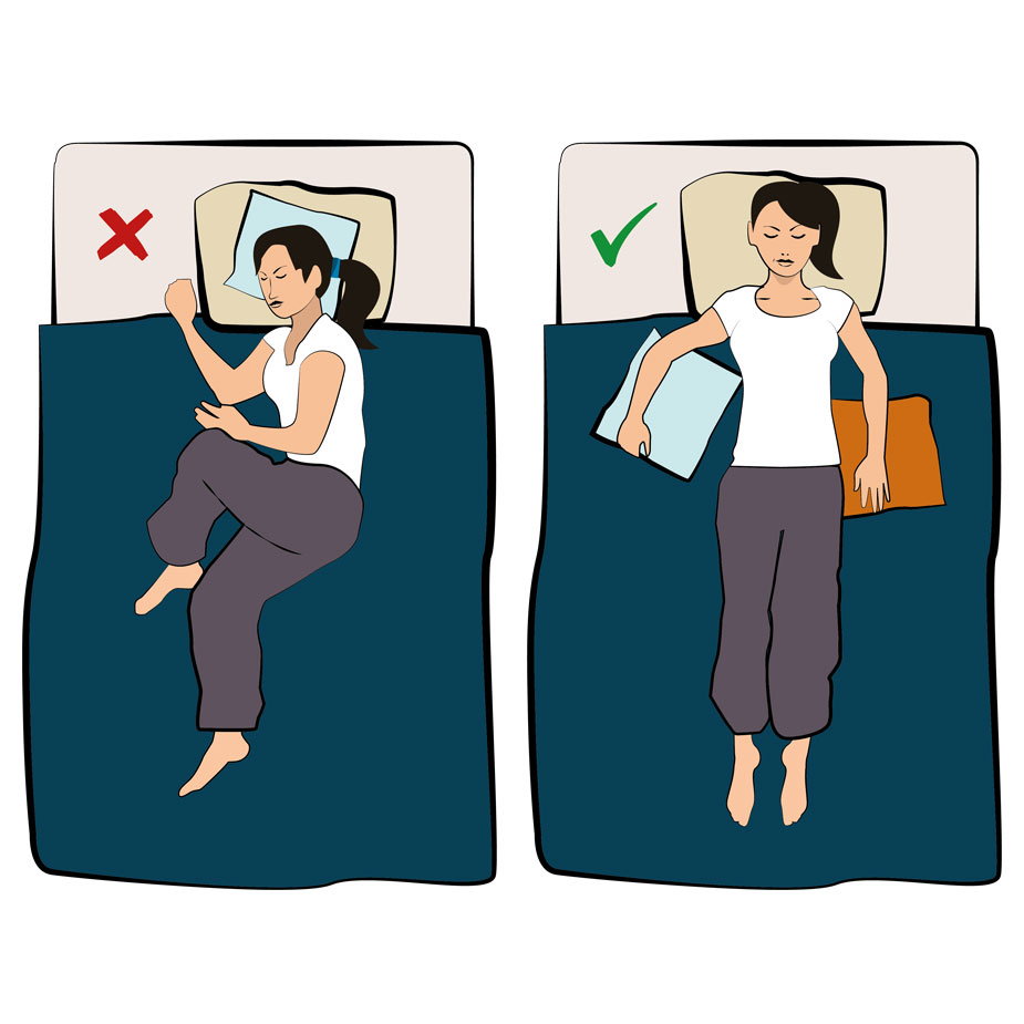 Schlafposition Nackenschmerzen