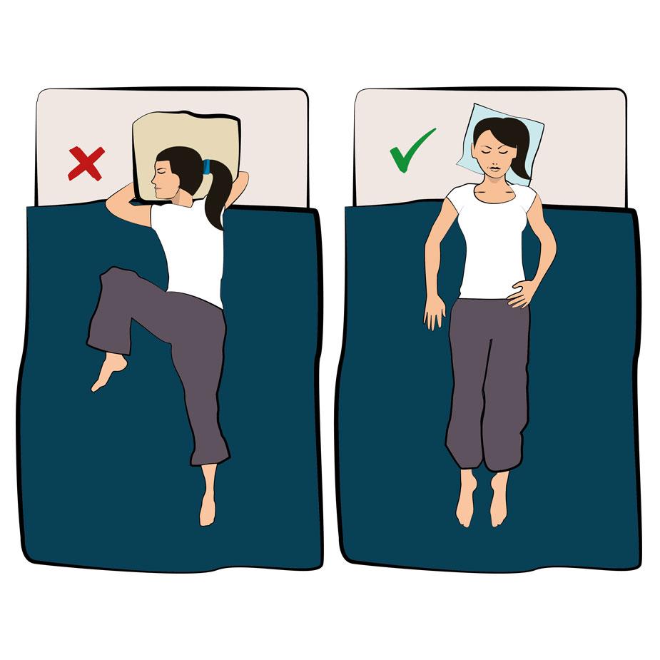 Schlafposition Rückenschmerzen