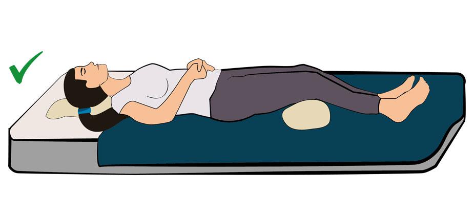 Schlafposition Schmerzende Beine
