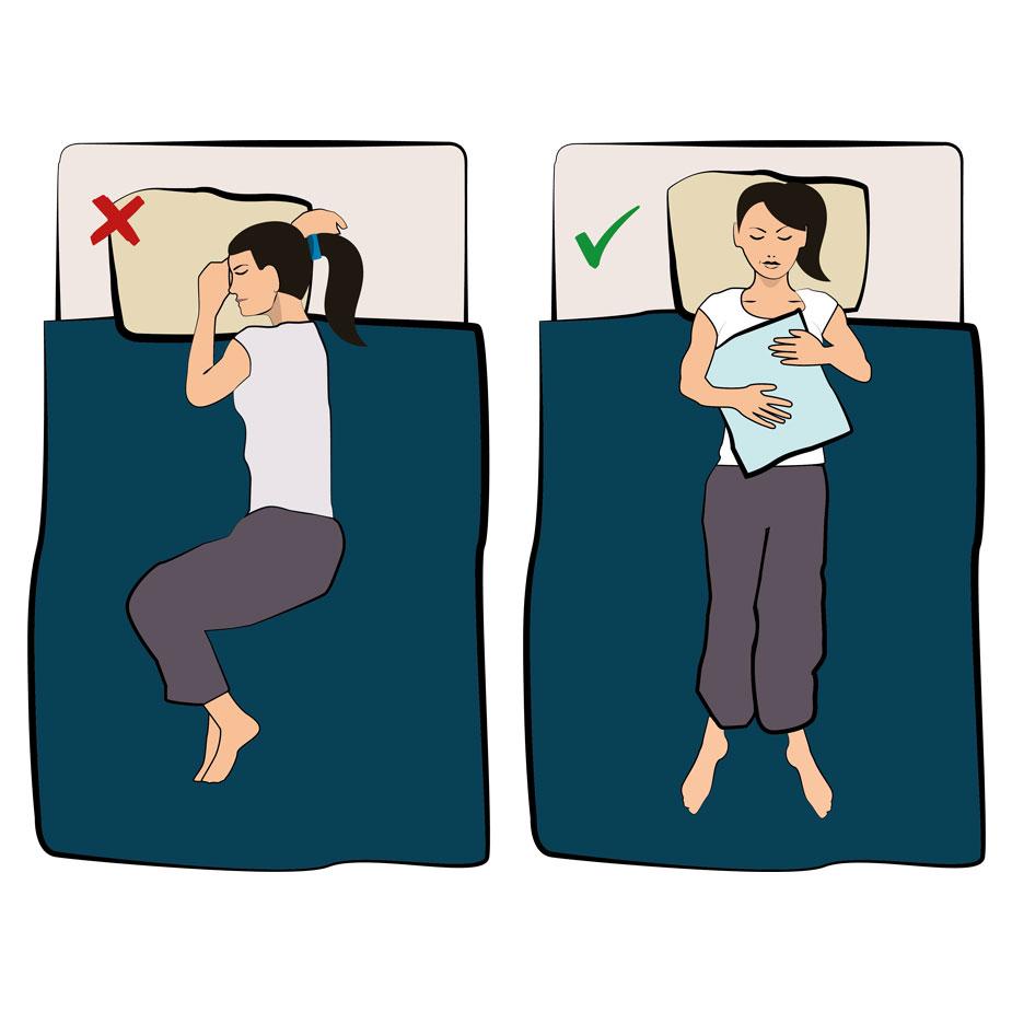Schlafposition Schulterschmerzen