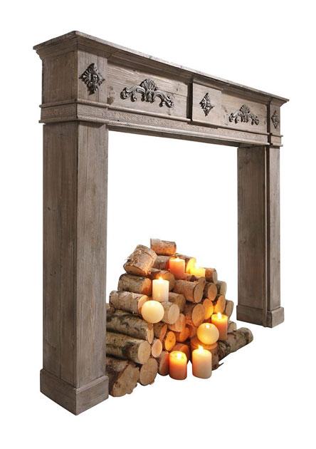 Holz-Kaminumrandung