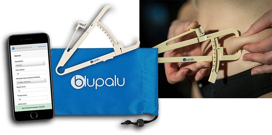 blupalu Körperfettzange Kaliper zum Messen von Körperfett