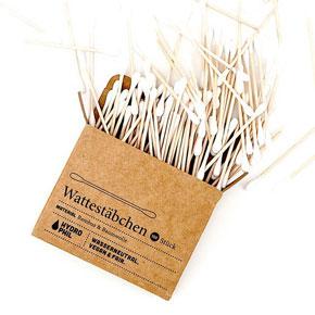 Hydrophil - nachhaltige Wattestäbchen aus Bambus und Baumwolle