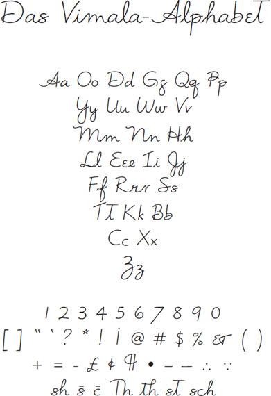 Vimala-Alphabet