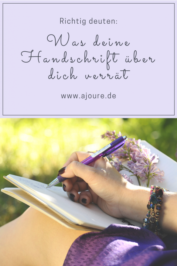 Handschrift Persönlichkeit Pinterest