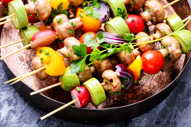 Gemüse-Spieße