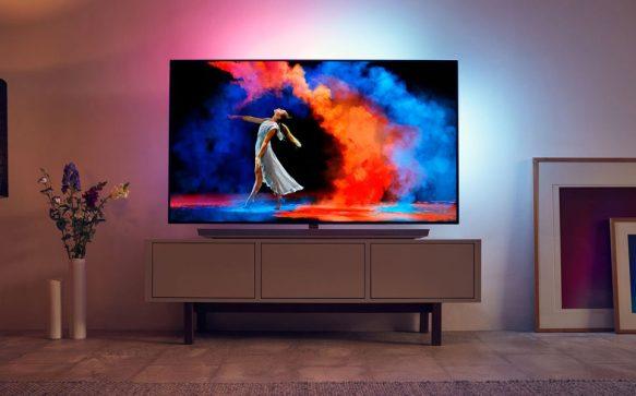 Gewinne einen ultraflachen Philips 65OLED973 TV mit Ambilight!