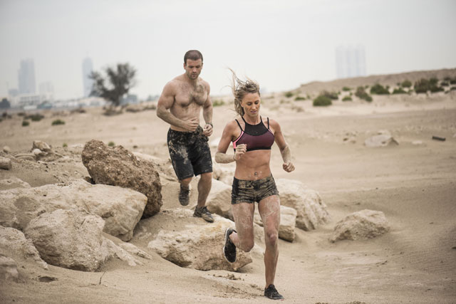 Extrem-Hindernis-Lauf