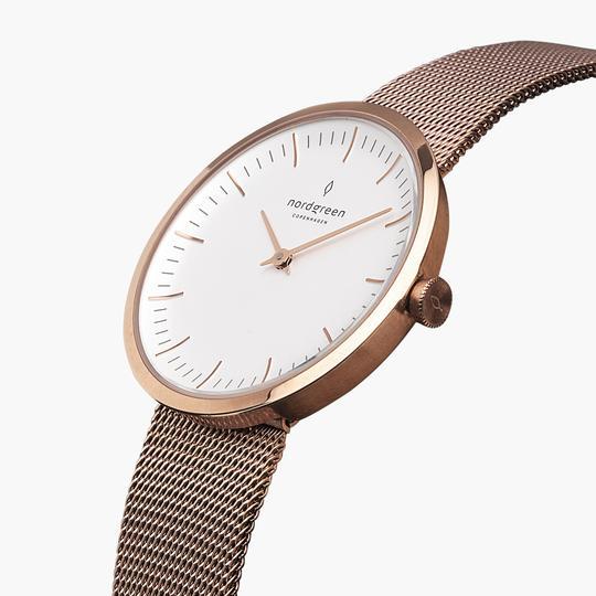 Nordgreen Uhr: Infinity Roségold Mesh Metall
