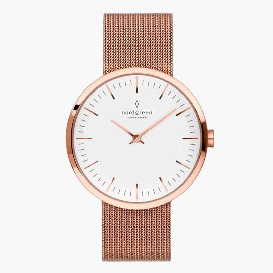 Nordgreen Uhr: Infinity Roségold Mesh