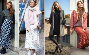 So stylst du Kleider und Röcke im Winter
