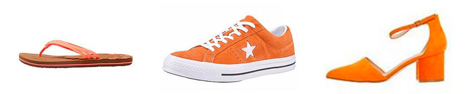 Orange Schuhe