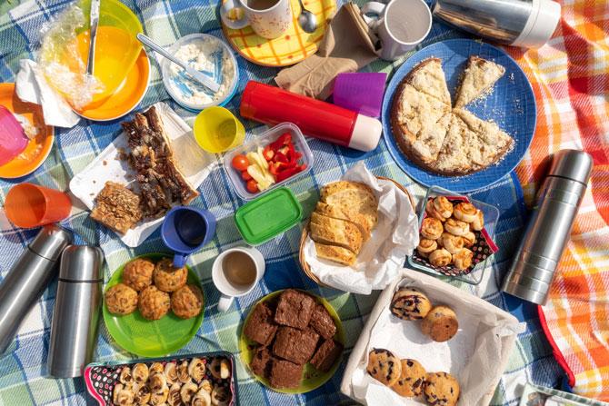 Picknick essen