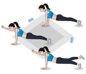 Der Alternating Plank