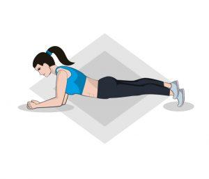 Einbeinige Planks