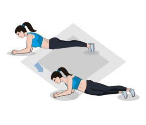 Plank mit seitlicher Verschiebung