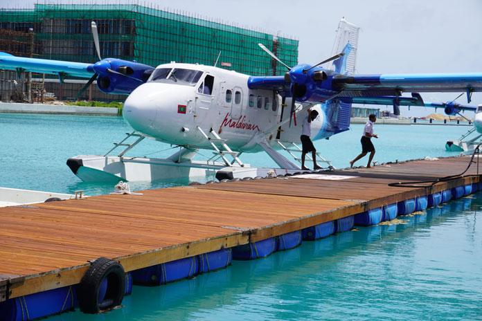 Robinson Club Noonu Wasserflugzeug