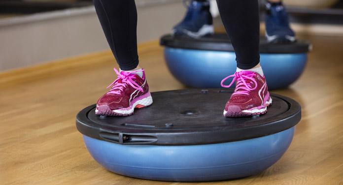 Gleichgewicht Training Bosu
