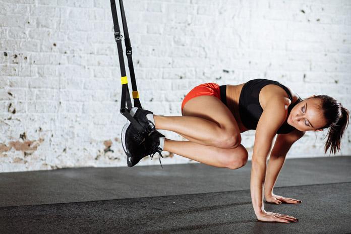 Gleichgewichtstraining Schlingentrainer