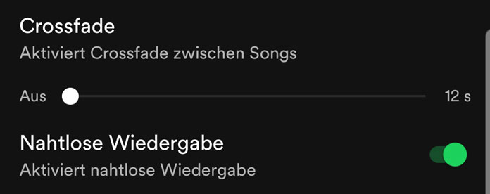 Crossfade Spotify