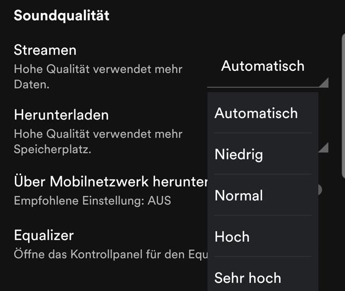 Spotify Soundqualität