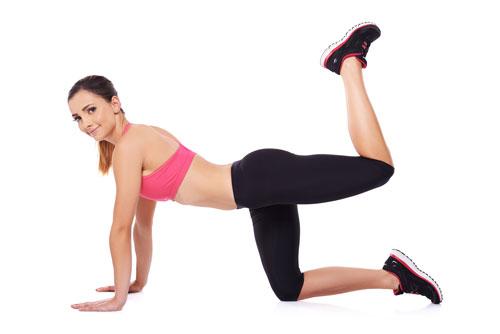 Fitnessübungen Donkey Kick