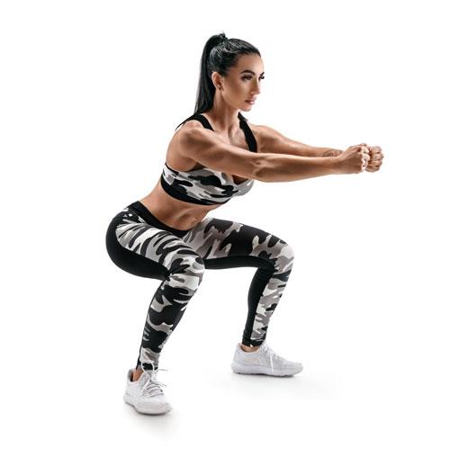 Fitnessübungen Squats