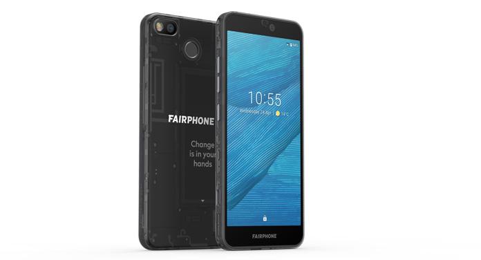 Fairphone 3 vorne und hinten