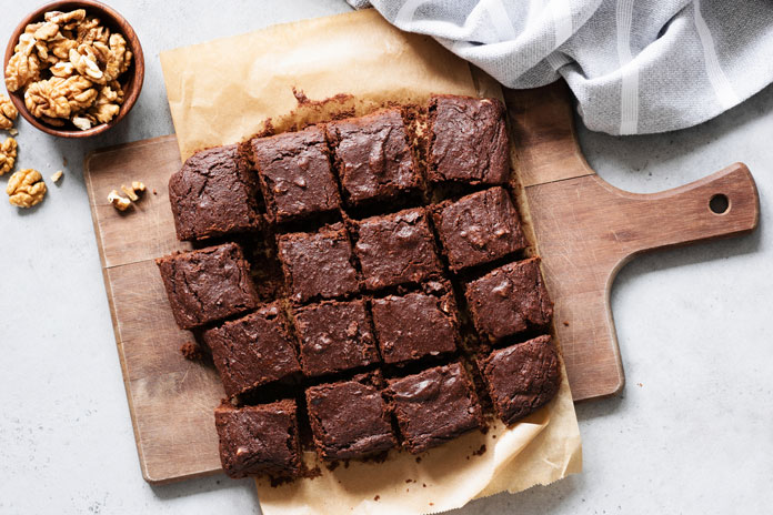 Brownies mit Proteinpulver