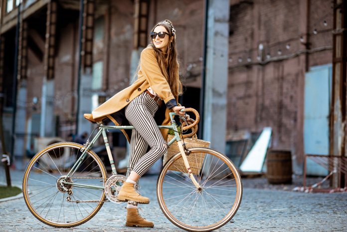 Fahrrad fahren und CO2 einsparen