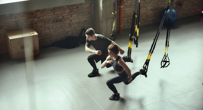 Fitness-Vorsätze durhhalten mit Partner