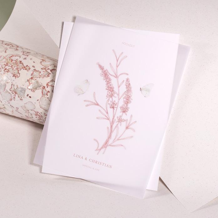 Hochzeitseinladungen mit Transparentpapier
