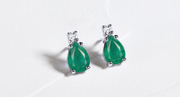 Smaragd-Ohrringe