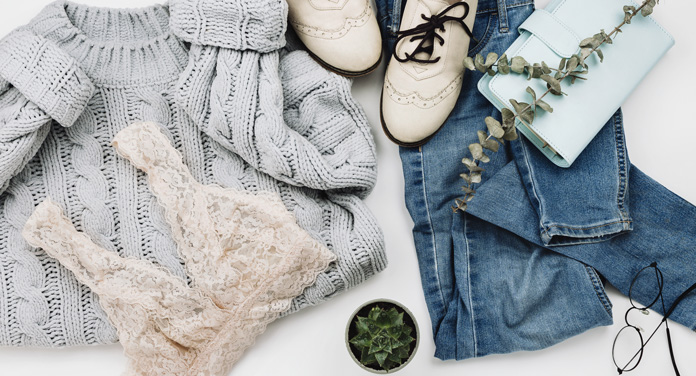 Eingelaufene Kleidung