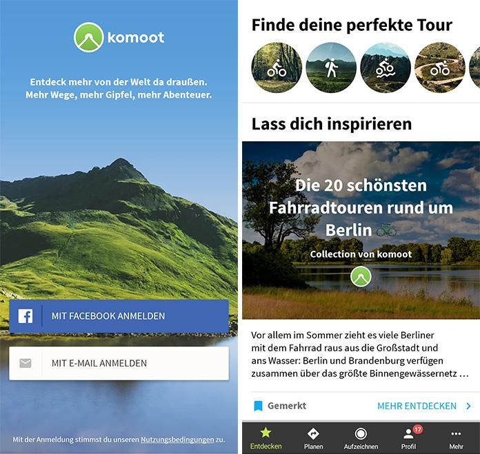 komoot App Screenshots