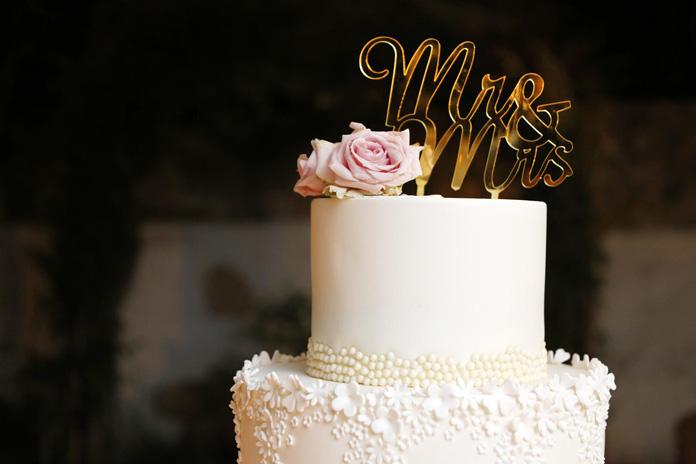 Glamour-Hochzeit Torte