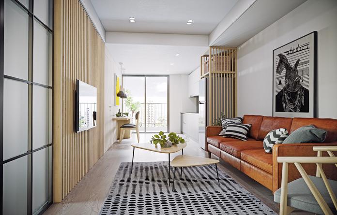 kleines Wohnzimmer TV Wandhalterung