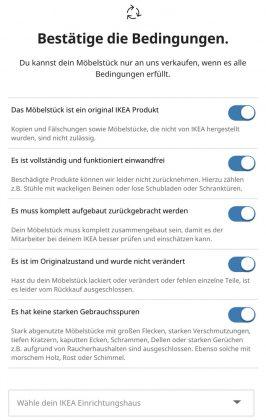 IKEA Zweite Chance - Bestätige die Bedingungen