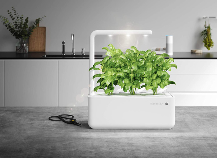 Emsa M5261700 Click & Grow Smart Garden 3 Indoor-Garten, passend für 3 Kräuterkapseln, weiß