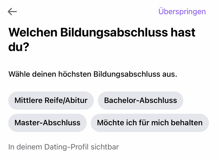 Facebook Dating Profil einrichten