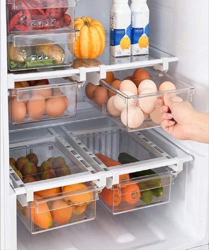 NaturPur Kühlschrank Organizer Ordnungssystem zur Aufbewahrung