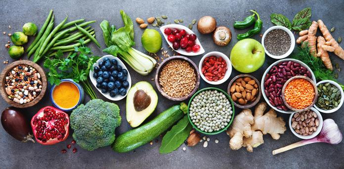 Obst, Gemüse, Vollkorn