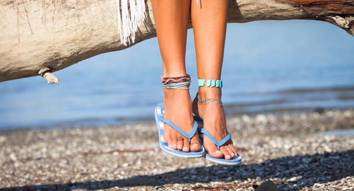 Strandtasche Flip-Flops