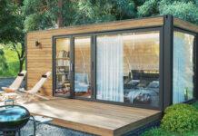 Dein eigenes Trend Gartenhaus in deinem Garten mit dem LogFoot™ Gartenhaus Fundament