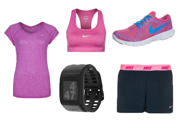 5a3dbb0c95fd9 Nike Performance BREEZE RUNNING – Funktionsshirt – club pink reflective  silver. Nike Performance NEW NIKE PRO BRA – Sport-BH – pink. Nike  Performance NIKE+ ...