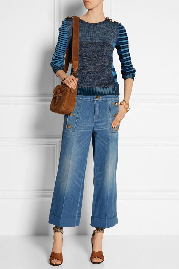 Gucci  - Verkürzte Jeans mit weitem Bein