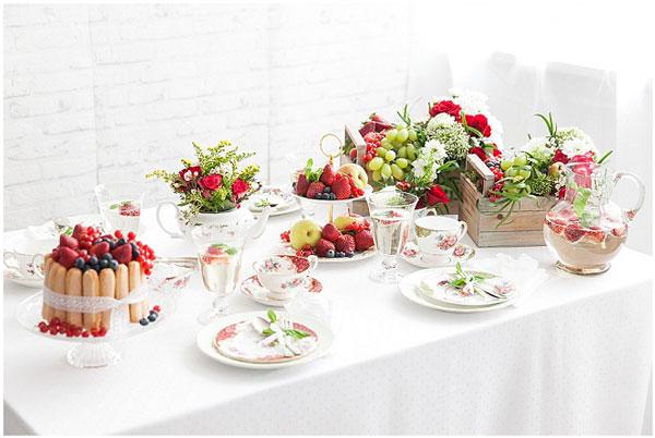 Dekorierter Hochzeitstisch